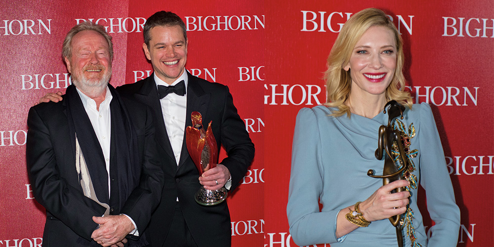 Cate Blanchett was honored with the Desert Palm Achievement Award and Matt Damon received the Chairman's Award at the Palm Springs International Film Festival Awards Gala