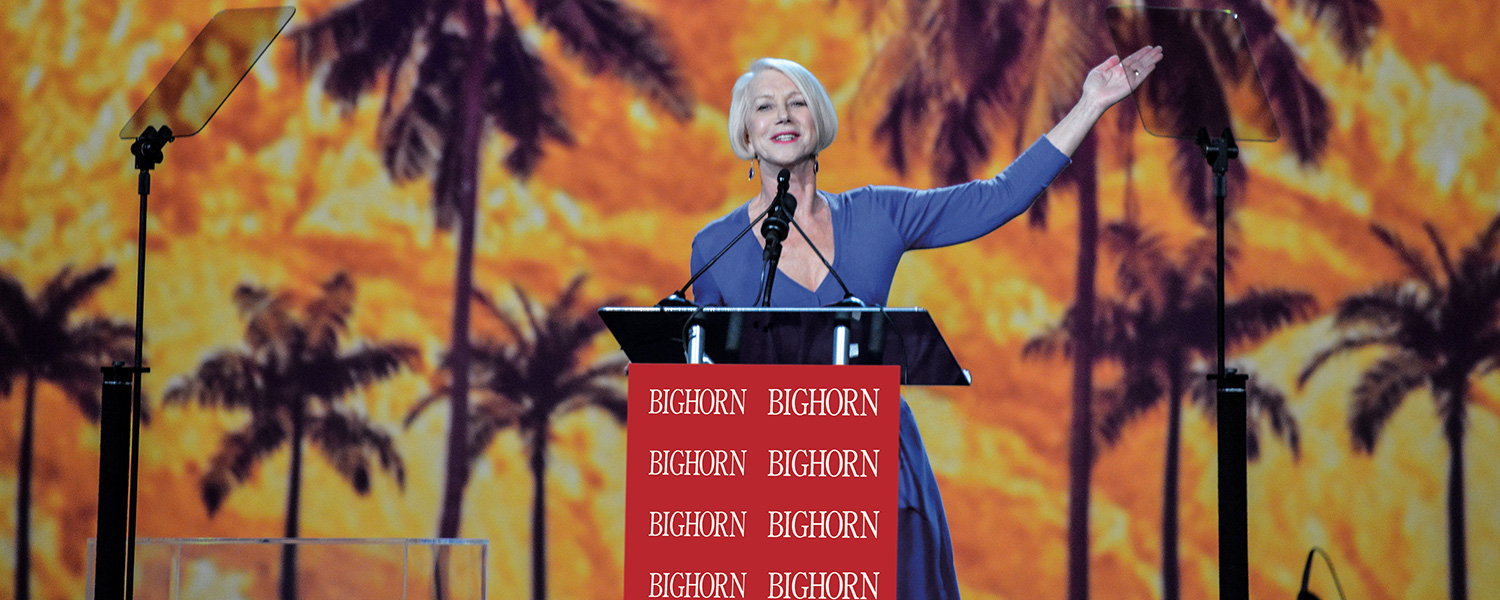 Helen Mirren presenting at Palm Springs International Film Festival Awards Gala